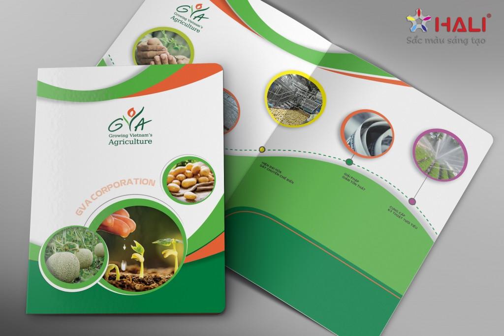 Thiết kế folder Công ty CP GVA