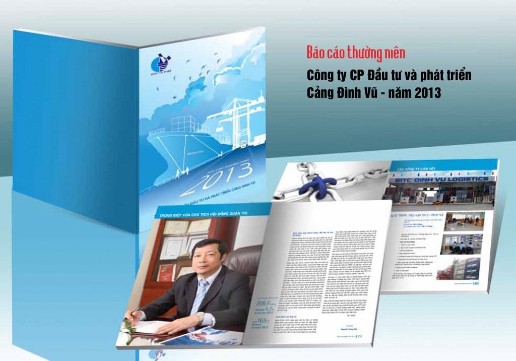 Thiết kế báo cáo thường niên Cảng Đình Vũ