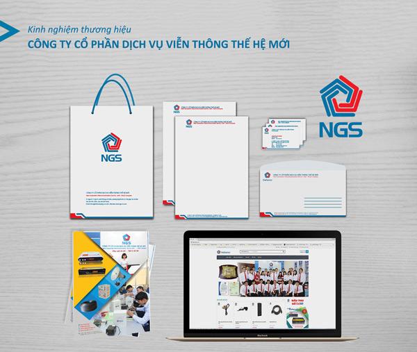 Bộ nhận diện thương hiệu NGS.