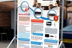 Mẫu poster của Công ty cổ phần dịch vụ viễn thông Thế Hệ Mới