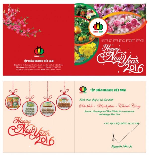 Mẫu thiết kế thiệp chúc mừng năm mới tại Hali.