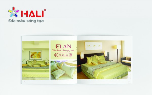 Mẫu thiết kế catalogue ELAN tại Hali