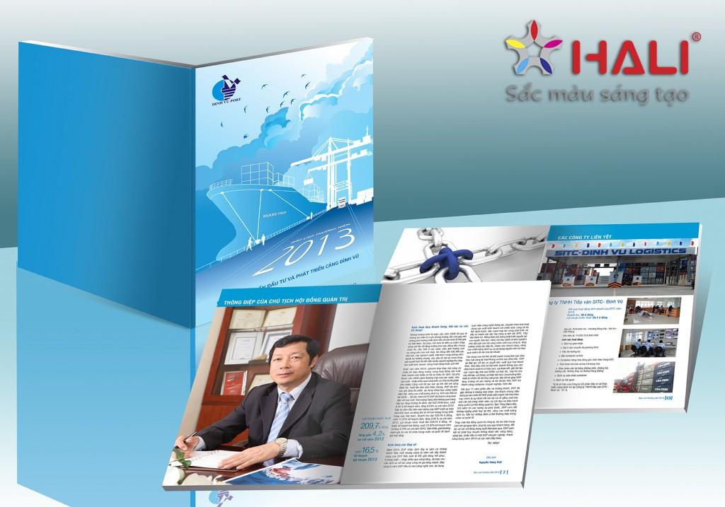 Thiết kế Báo cáo thường niên Công ty Cảng Đình Vũ 2013