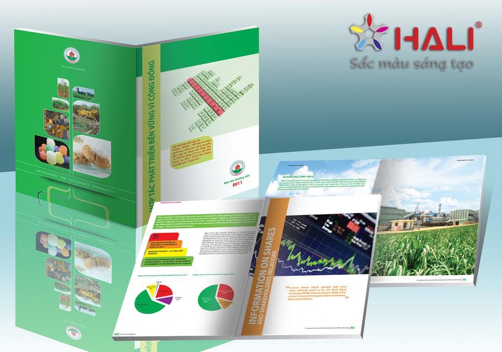 Thiết kế báo cáo thường niên Công ty Mía đường Lam Sơn 2011