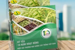 Thiết kế kỷ yếu Hiệp hội Thương mại Giống cây trồng Việt Nam
