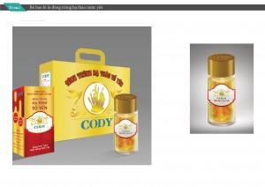 Mẫu thiết kế bao bì sản phẩm Thực phẩm chức năng Cody - Loại lọ cao