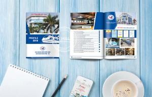 Mẫu thiết kế profile công ty tại Hali.