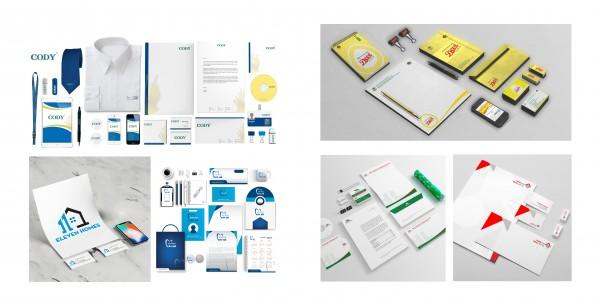 Các mẫu nhận diện thương hiệu do Hali thiết kế.
