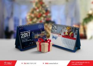 Mẫu lịch để bàn 2020 của Hali.