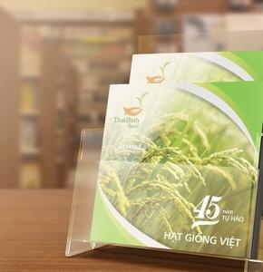 """Thiết kế kỷ yếu doanh nghiệp """"45 năm Tự Hào Hạt Giống Việt"""""""