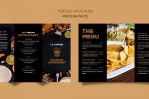 Thiết kế brochure đẹp – Bí quyết nhân đôi doanh số nhà hàng