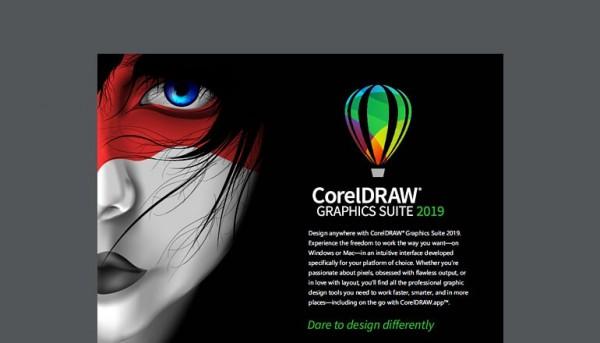 Phần mềm thiết kế Corel.