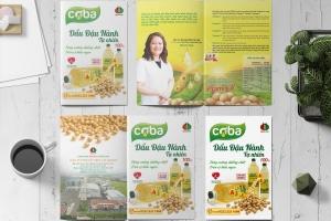 Thiết kế tờ rơi quảng cáo Dầu đậu nành cao cấp COBA