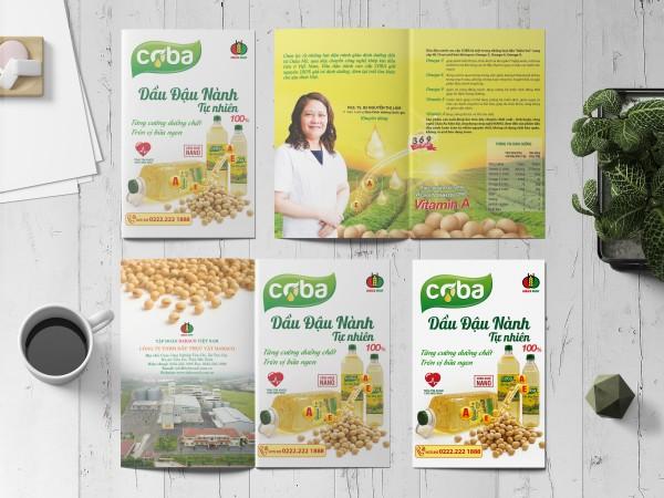 Mẫu thiết kế tờ rơi quảng cáo Dầu đậu nành COBA.