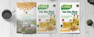 """Slogan của Dầu đậu nành cao cấp Coba: """"Tăng cường dưỡng chất - Tròn vị bữa ngon""""."""