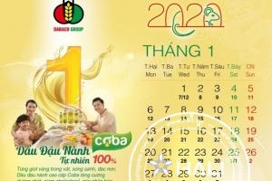 Dấu ấn thiết kế lịch Dabaco 2020