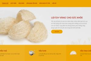 Mẫu thiết kế website yến sào đẹp – Thiết kế website yến sào
