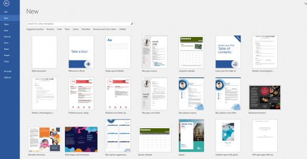 Phần mềm thiết kế brochure miễn phí Word.