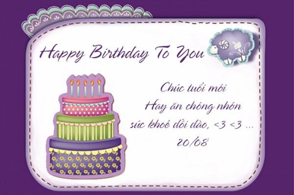 Thiết kế thiệp sinh nhật độc đáo.
