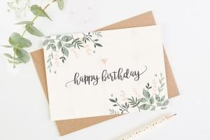Thiết kế thiệp sinh nhật độc đáo