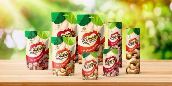 Thiết kế bao bì thực phẩm hạt điều