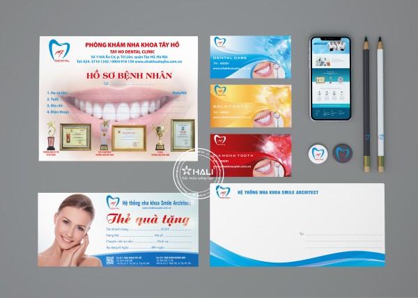 Bộ nhận diện thương hiệu Hệ thống nha khoa Smile Architect